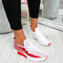 Nova Red Lace Up Knit Trainers