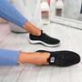 Vya Black Studded Slip On Trainers