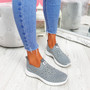Vya Grey Studded Slip On Trainers