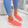 Vya Fuchsia Studded Slip On Trainers