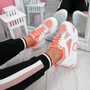 Nezze Peach Glitter Chunky Sneakers