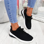 Tissa Black Lace Up Trainers