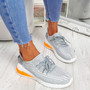 Tissa Grey Lace Up Trainers