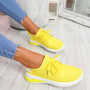 Tissa Yellow Lace Up Trainers