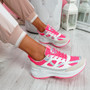 Fiffe Fuchsia Lace Up Chunky Sneakers