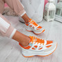 Fiffe Orange Lace Up Chunky Sneakers