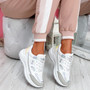 Fiffe White Lace Up Chunky Sneakers
