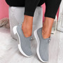 Diffa Grey Knit Trainers