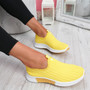 Diffa Yellow Knit Trainers