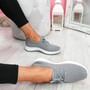 Ligy Grey Knit Lace Up Sneakers