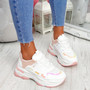 Kalle Pink Chunky Trainers