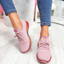 Elva Pink Rainbow Sole Trainers
