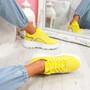 Esi Yellow Chunky Platform Trainers