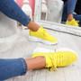 Mizza Yellow Chunky Trainers