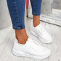 Mizza White Chunky Trainers