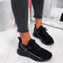 Deppa All Black Lace Up Sport Trainers
