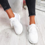 Deppa White Lace Up Sport Trainers