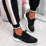 Pehy Black Studded Knit Sneakers
