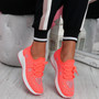 Pehy Fuchsia Studded Knit Sneakers