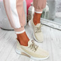 Tenny Beige Lace Up Trainers