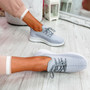 Tenny Grey Lace Up Trainers