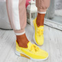 Tenny Yellow Lace Up Trainers