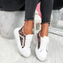 Sirra Beige Lace Up Trainers