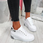 Retty White Snake Wedge Trainers