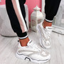 Elya White Chunky Sneakers