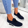 Senny Dark Blue Lace Up Trainers