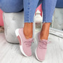 Senny Pink Lace Up Trainers