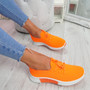 Senny Orange Lace Up Trainers
