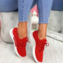 Yppo Red Knit Trainers