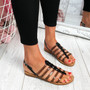 Kotty Black Flat Sandals