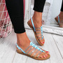 Kotty Light Blue Flat Sandals