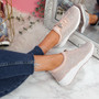 Hezzo Apricot Studded Trainers