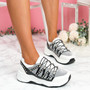 Kossa Silver Chunky Glitter Trainers
