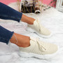 Leppe Beige Running Sneakers