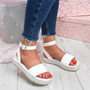 Golly White Studded Platform Sandals
