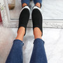 Dynna Black Sock Cycling Sneakers