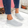 Dynna Grey Sock Cycling Sneakers