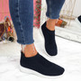 Dynna Navy Sock Cycling Sneakers