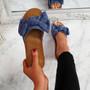 Onno Blue Bow Flat Sandals