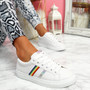 Shea White Silver Rainbow Trainers