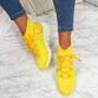 Kezy Yellow Lace Up Chunky Trainers
