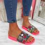 Jusso Fuchsia Snake Sandals