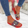 Jusso Red Snake Sandals