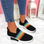 Izzy Black Rainbow Trainers