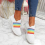 Izzy White Rainbow Trainers