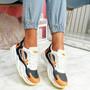 Lorry Orange Chunky Sneakers